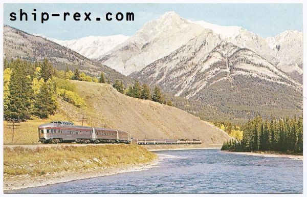 Canadian Pacific Train, The Canadian - 1963 postcard